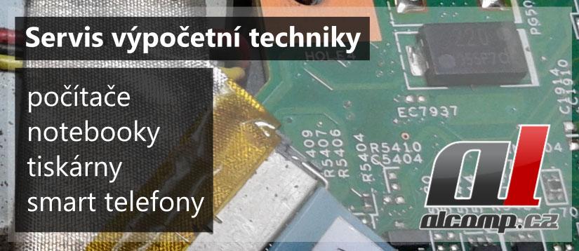 Servis výpočetní techniky. Oprava počítačů, notebooků, telefonů, tiskáren,..